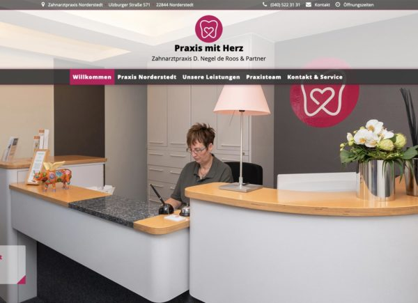 Zahnarztpraxis Norderstedt Website